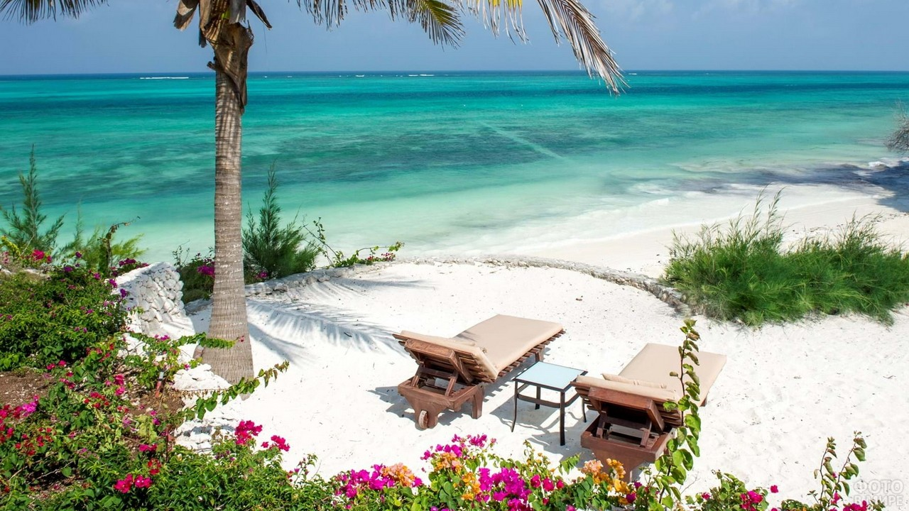 Романтичный уголок пляжа на Занзибаре