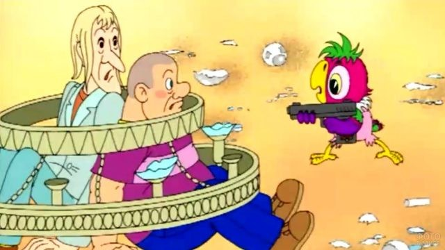 Попугай Кеша поймал бандитов
