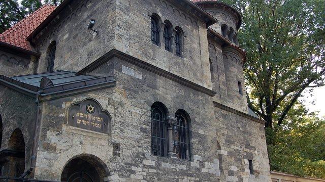 Стена старинной синагоги в квартале Йозефов