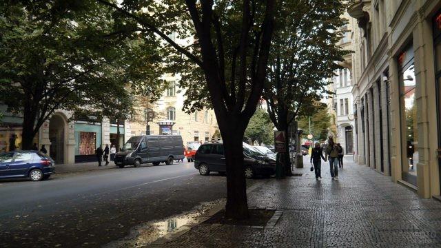 Тенистая улица квартала Йозефов