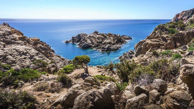 Пейзаж острова Сардиния