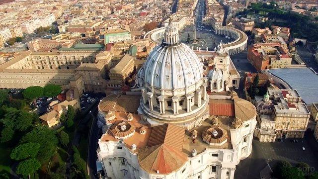 Аэросъёмка купола Собора Святого Петра