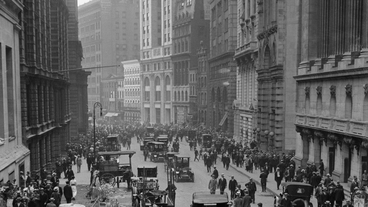 Уолл-стрит в 1920 году