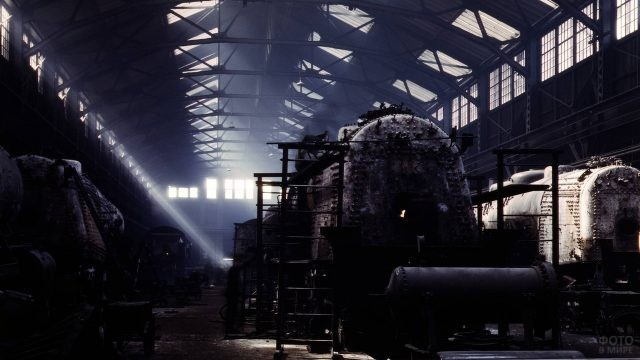 Заброшенный вагоностроительный завод
