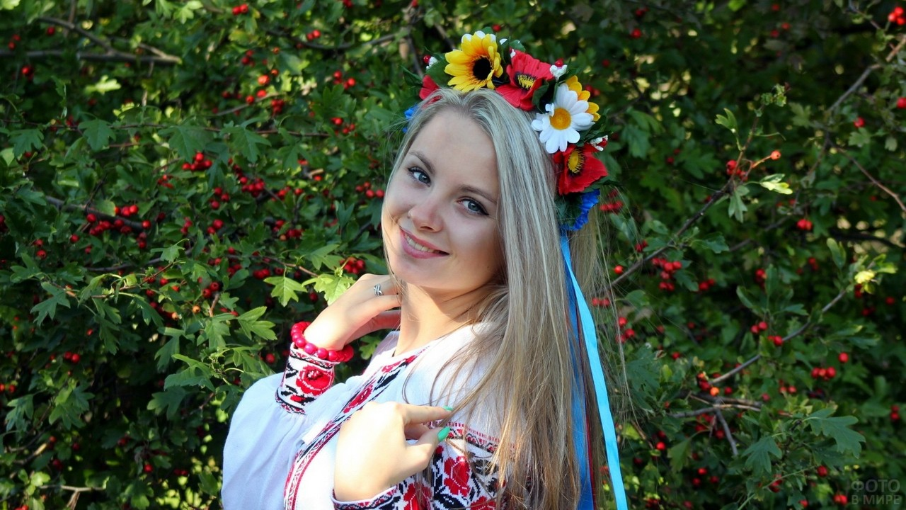 Задорный взгляд украинской красавицы