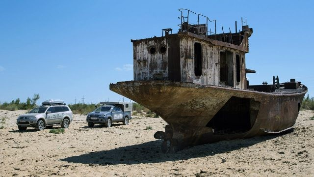 Джиппинг на Аральском море в районе порта Муйнак