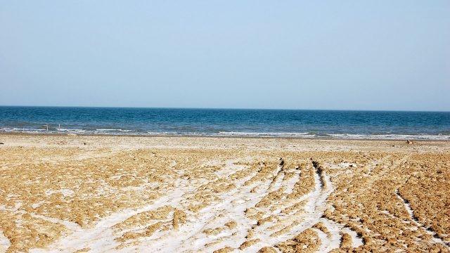 Пляж на Аральском море
