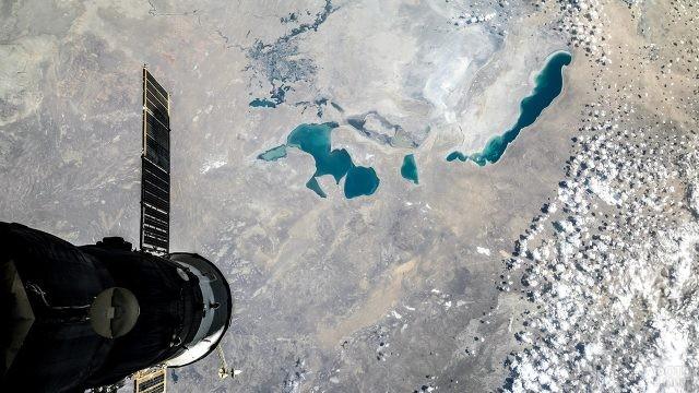 Вид Аральского моря из Космоса