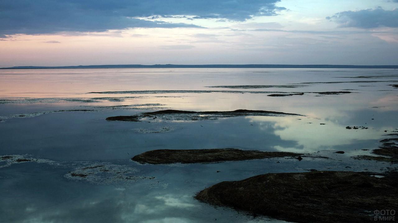 Закат над Северным Аральским морем