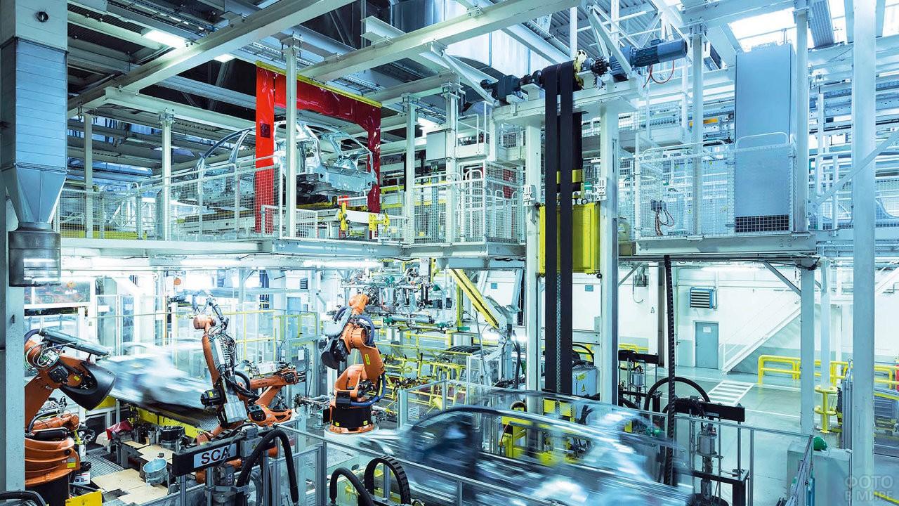 Цех на заводе Шкода в Чехии