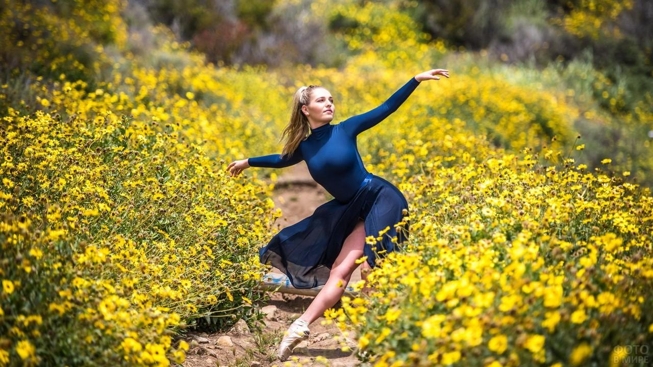 Балерина в цветочном поле