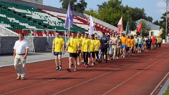 Спортивный праздник в День железнодорожника в Новосибирске
