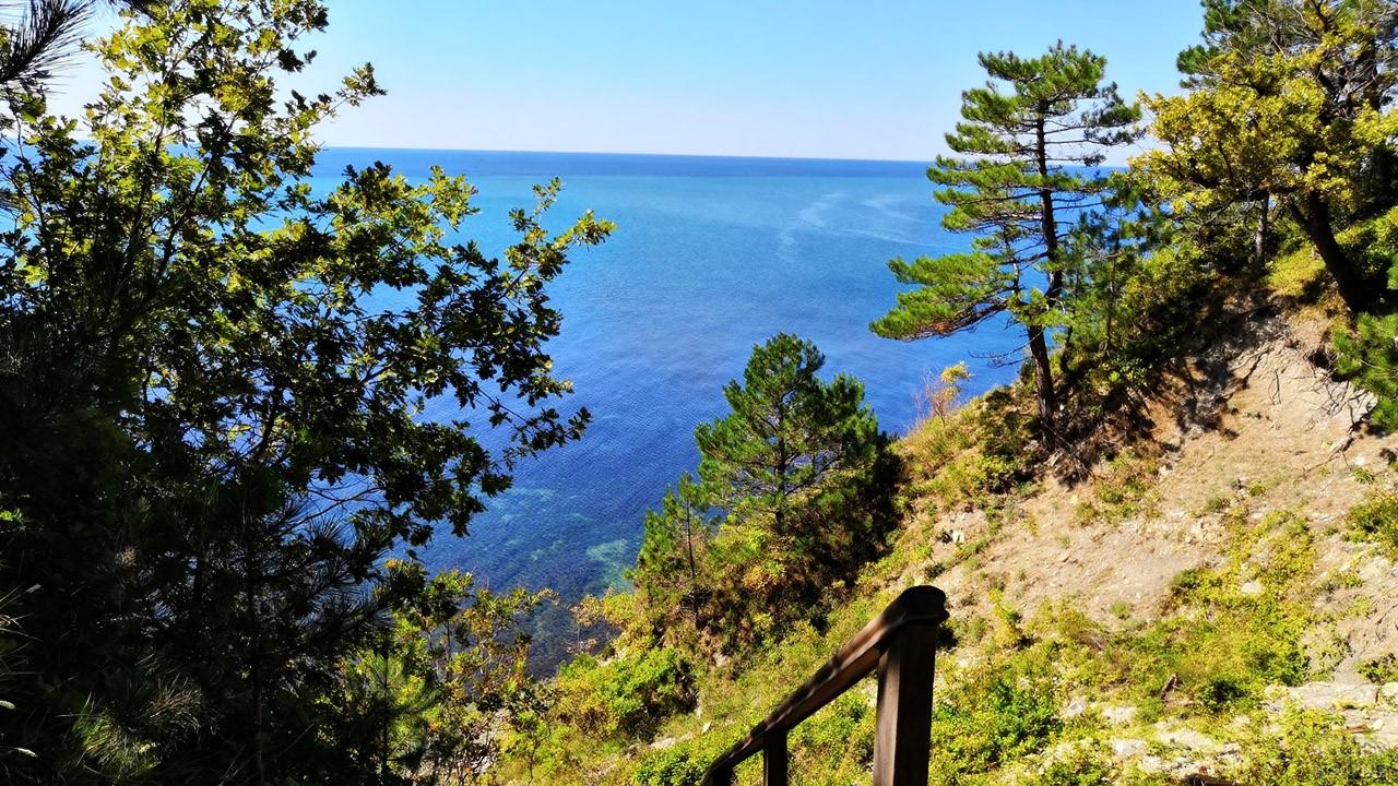 Вид на море с высокого берега