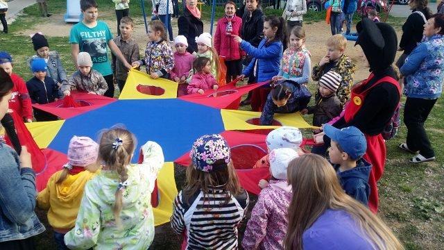 Дети на празднике 1 июня в Туле