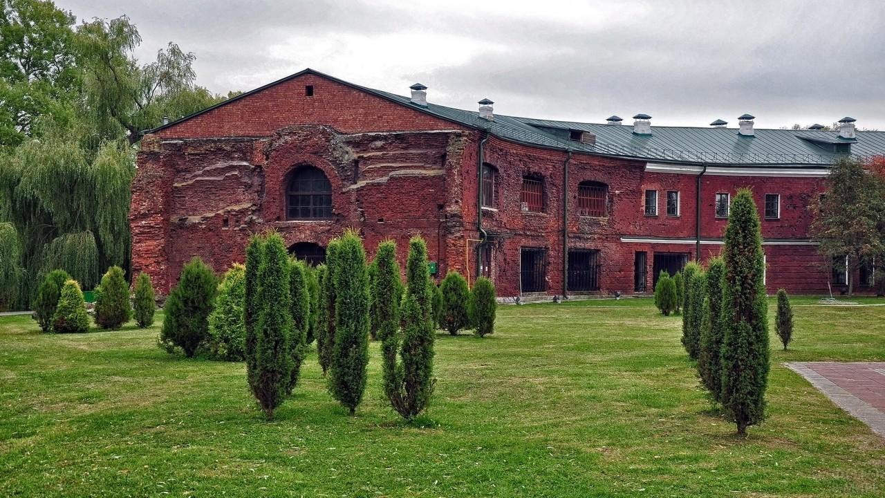 Деревья на территории Брестской крепости