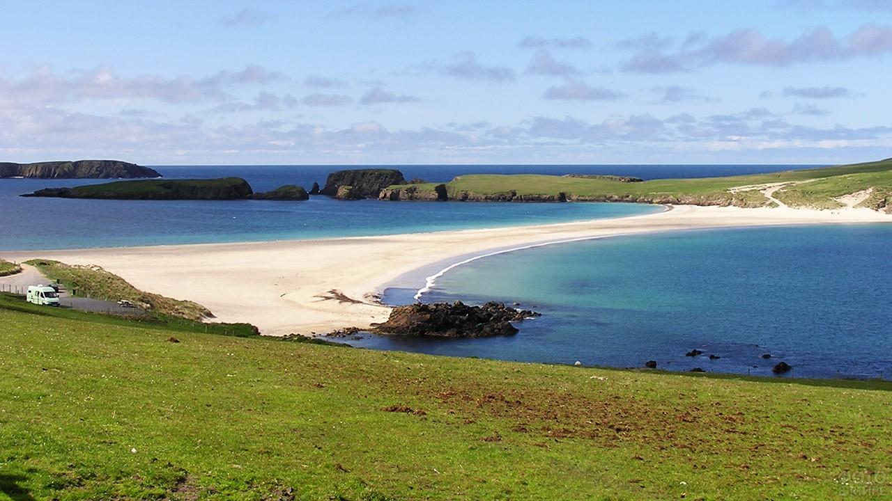 Приливные острова в Шотландии