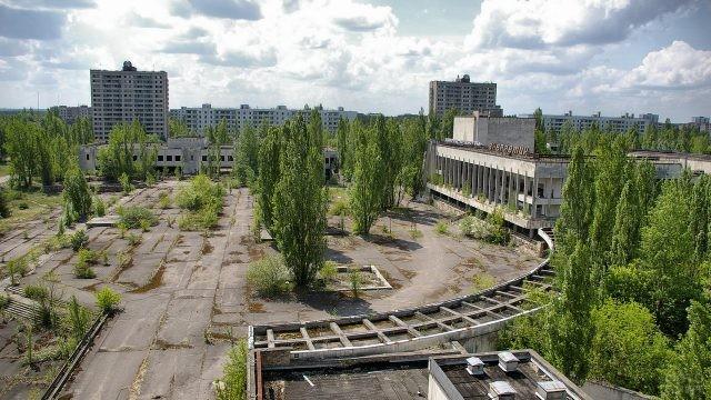 Центр в городе Припять