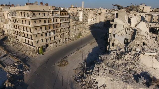 Разрушенный город Алеппо