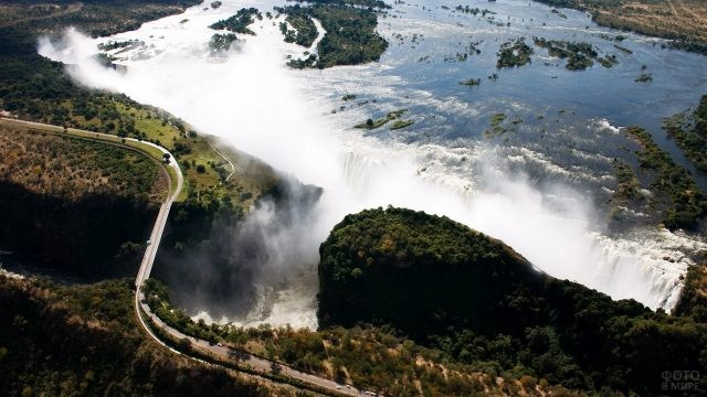 Аэрофотосъёмка водопада Виктория