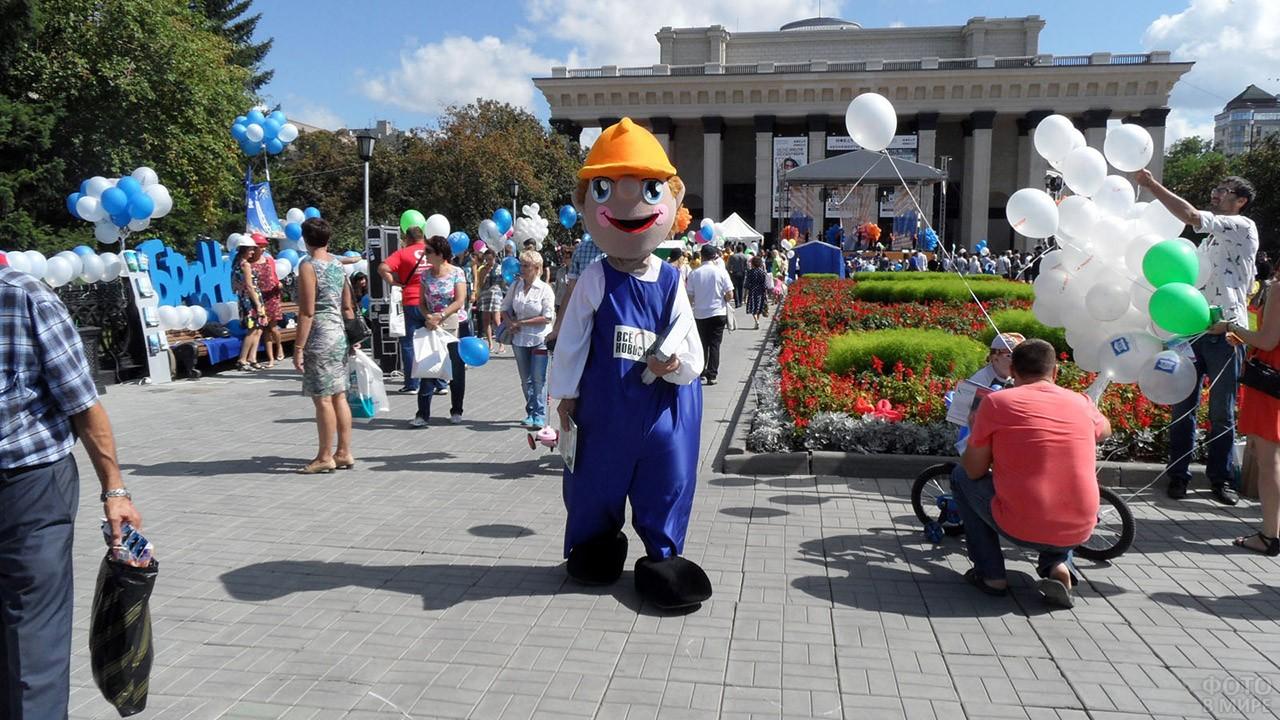 Городской праздник в День строителя в Новосибирске
