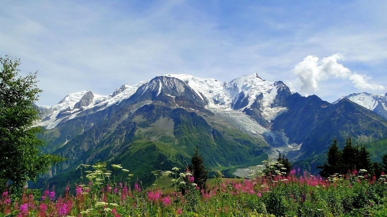 Красивая природа Альпийских гор