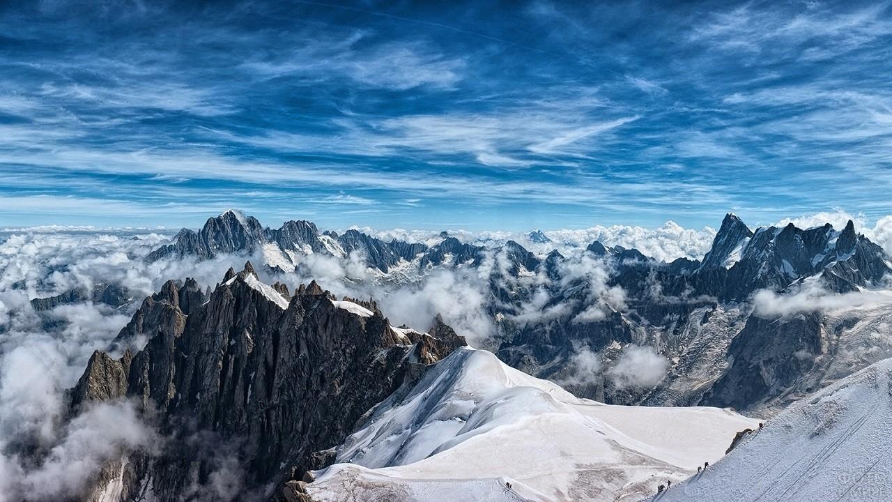 Высочайшая вершина Альпийских гор