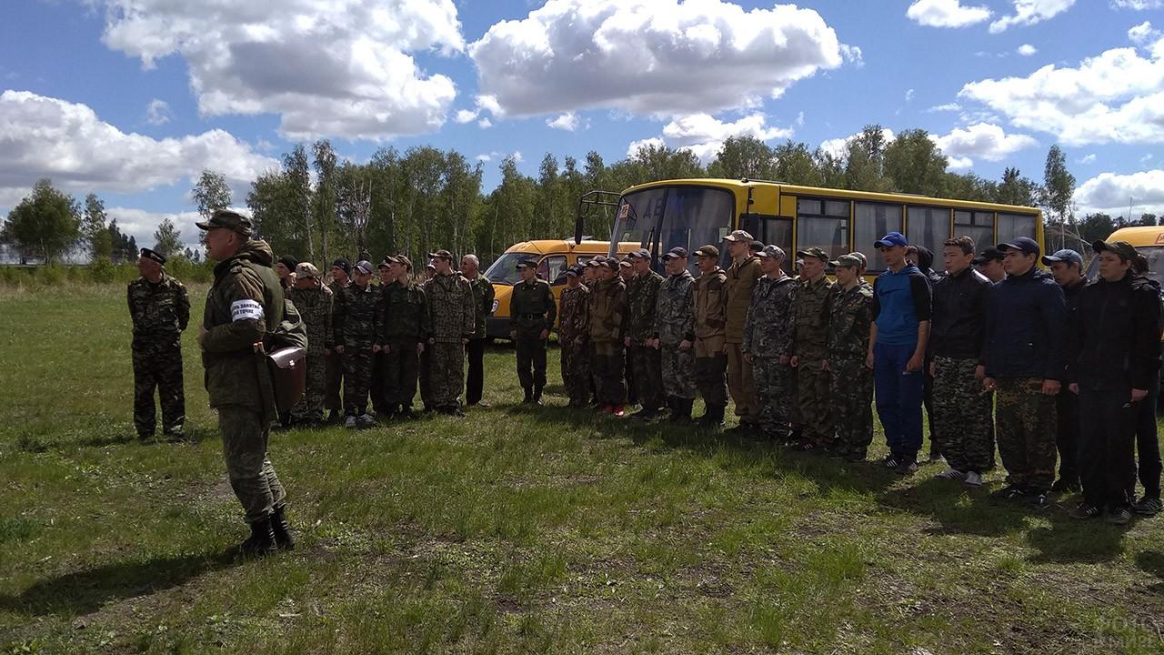 Сборы военных РХБ защиты и старшеклассников