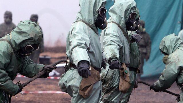 Военные учения войск РХБ защиты