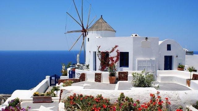 Ветряная мельница на Санторини