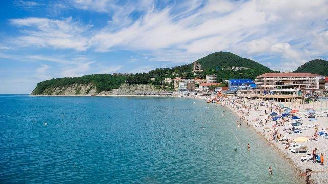 Панорама центрального пляжа