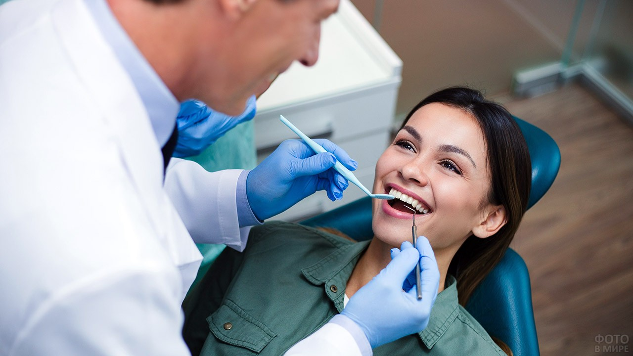 Картинки девушка у стоматолога