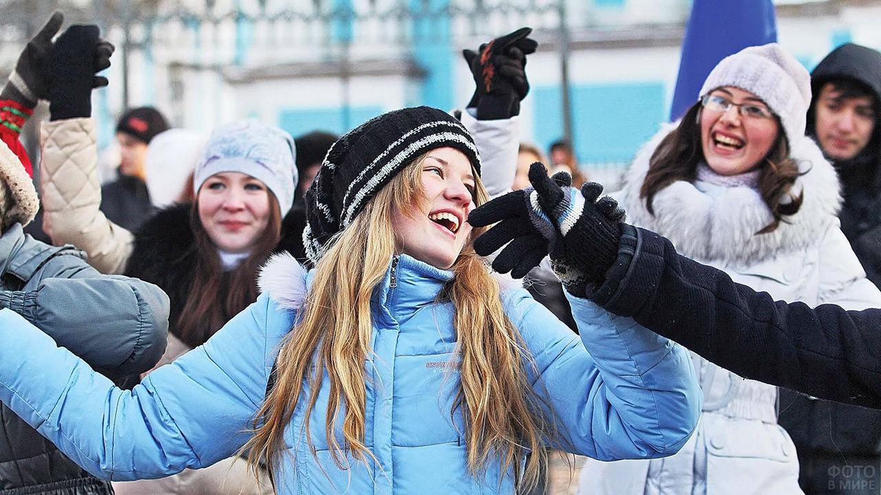 Студентки веселятся в Татьянин день