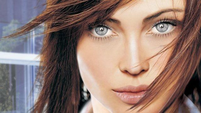 Девушка с глазами цвета стали