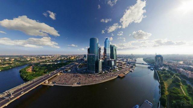 Красивый вид на Москва-Сити