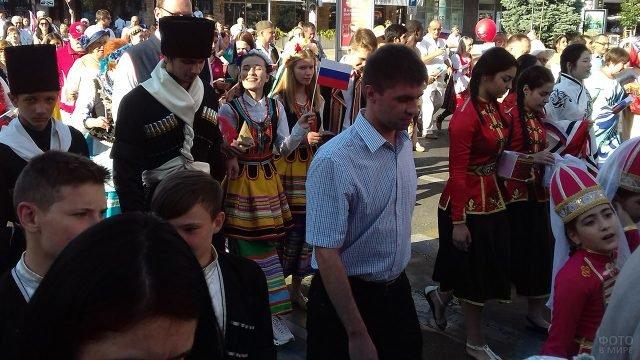 Парад Дружбы народов на Дне России в Краснодаре