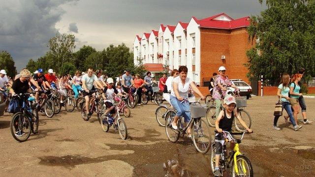 Велопробег в День России в Татарстане