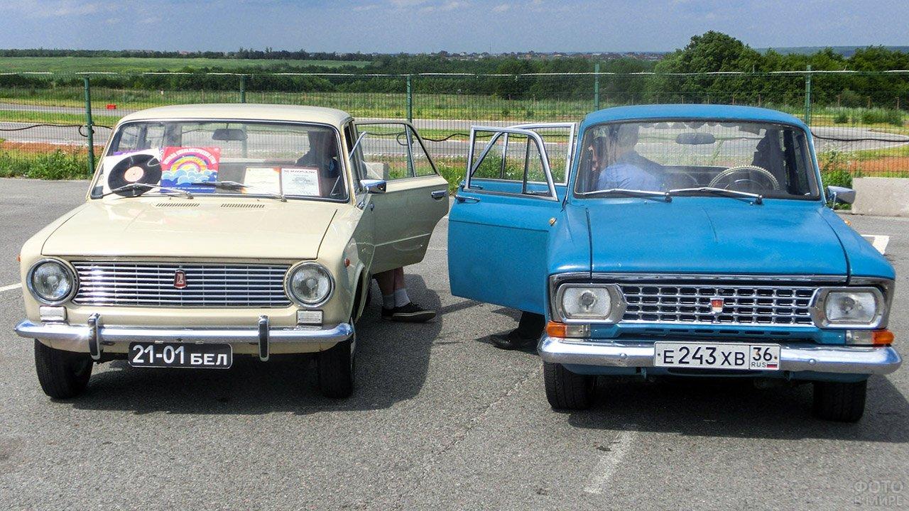 Ретро-автомобили советской эпохи в День ГАИ в Белгороде