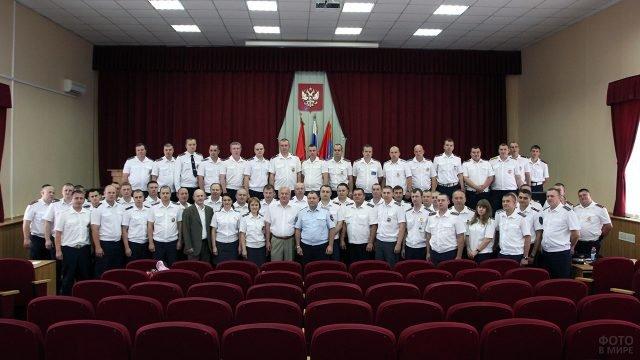 Сотрудники Подольского ГАИ в профессиональный праздник