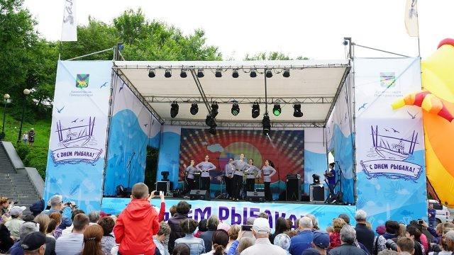 Праздничный городской концерт в День рыбака в Приморье