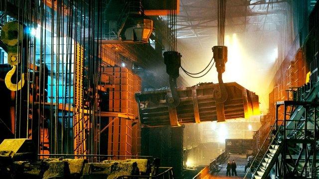 Цех переработки металлолома на металлургическом заводе