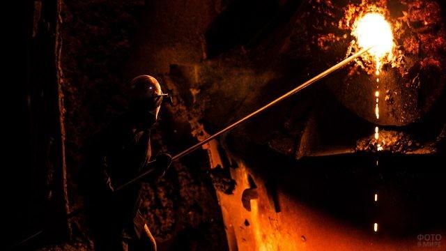 Литьё металла на Челябинском заводе