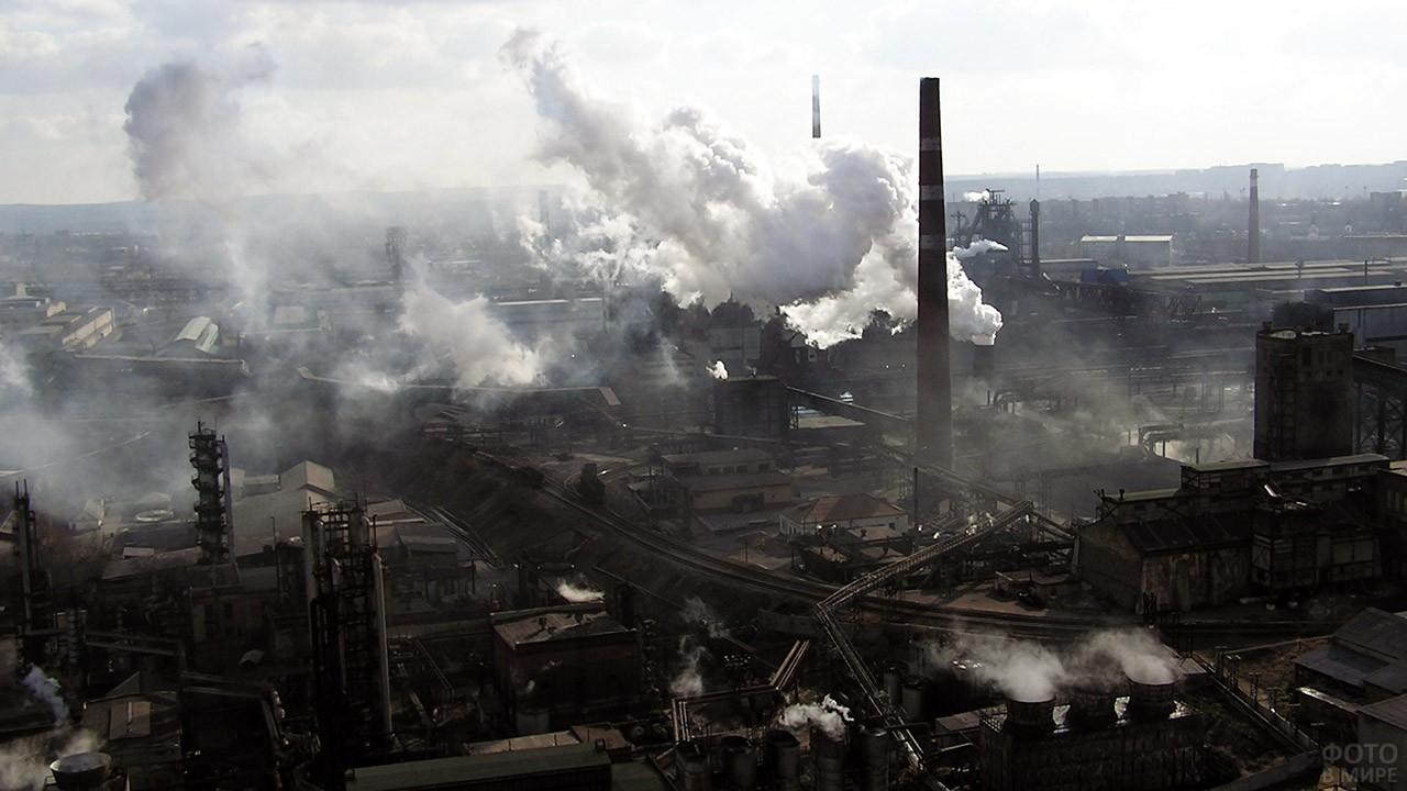 Панорама завода чёрной металлургии