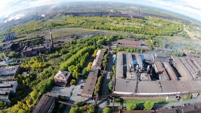 Панорамная аэросъёмка металлургического завода в Нижнем Тагиле