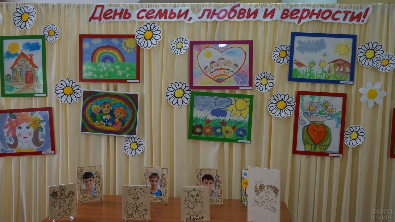 Детские рисунки к празднику