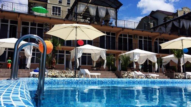 Бассейн при частном отеле