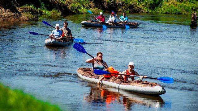 Сплав на байдарках по реке Буу
