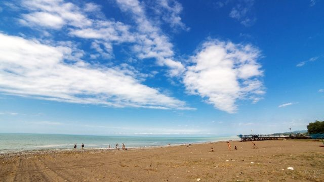 Пляж базы отдыха Донской табак