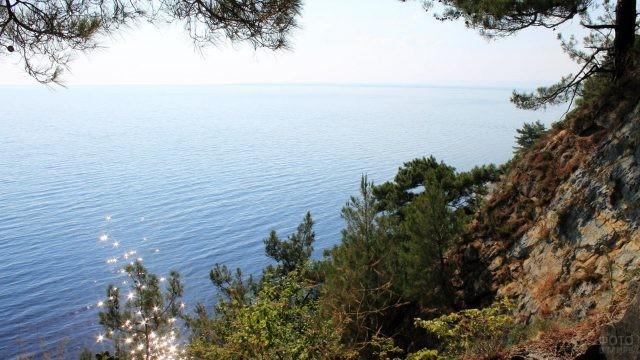 Вид со смотровой площадки заброшенного санатория Черноморье