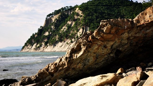 Скалы на берегу Чёрного моря