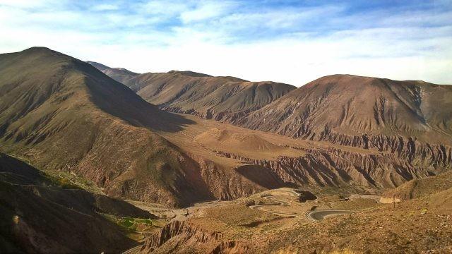 Живописные холмы Аргентинских Анд